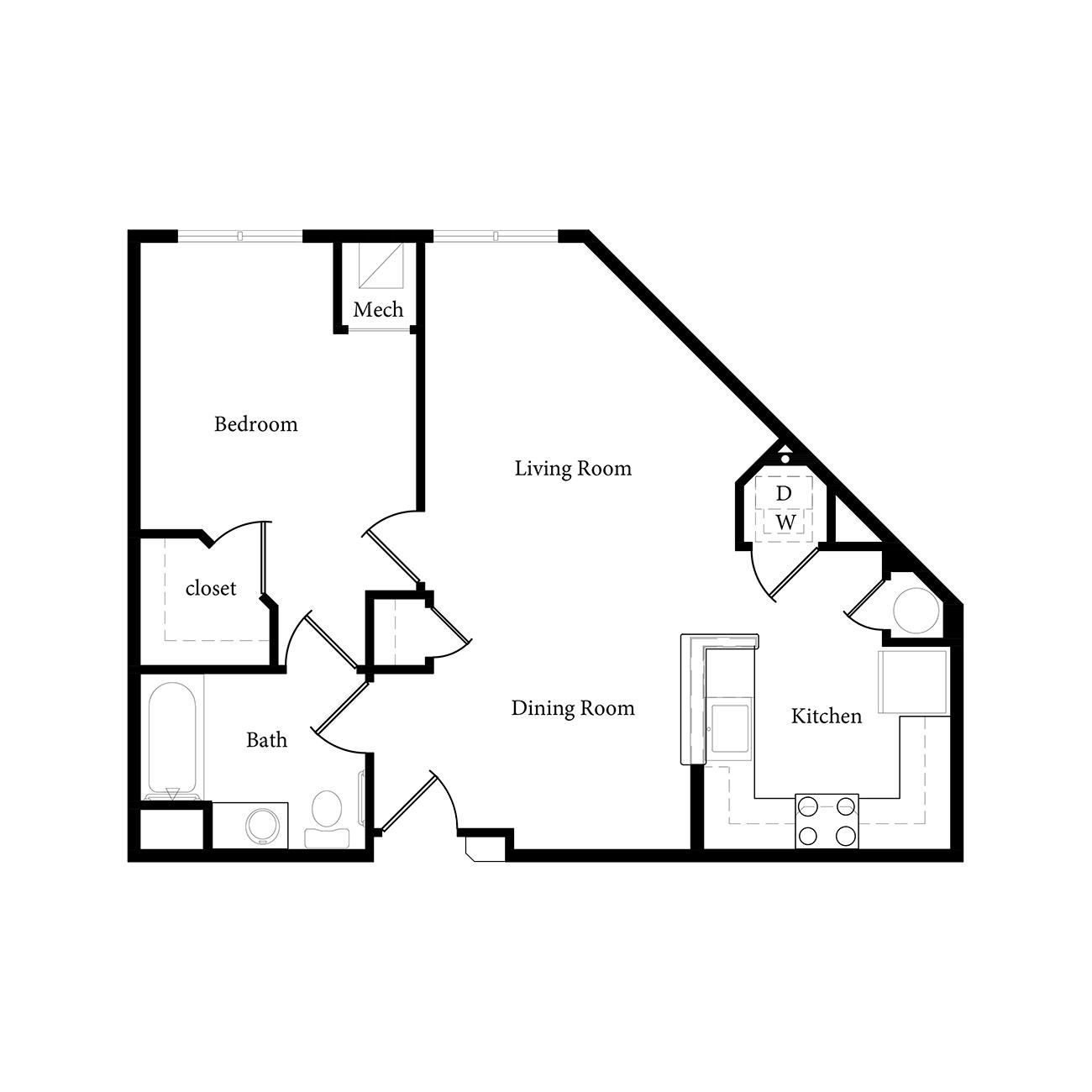 Roundtree Apartments: Floor Plans – Roundtree Residences Apartments